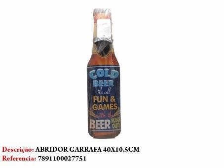 Enfeite Abridor De Garrafa Cerveja Cold 40x10cm Ref 2775  - Presente Presente