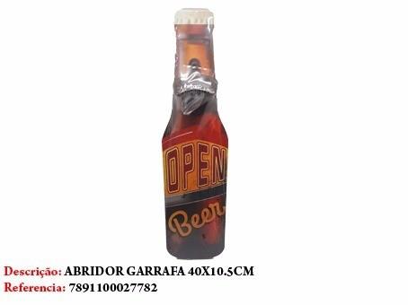 Enfeite Abridor De Garrafa Cerveja Open 40x10cm Ref 2778  - Presente Presente
