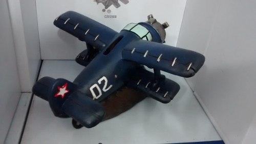 Cofre Resina Avião Hélice Miniatura Vintage Retro  - Presente Presente