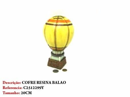 Cofre Resina Balão Miniatura Vintage Retro  - Presente Presente