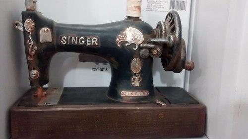 Cofre Resina Maquina De Costura Miniatura Vintage Retro  - Presente Presente
