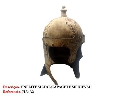 Elmo Guerreiro Medieval Capacete Batalha Miniatura Cruzadas  - Presente Presente