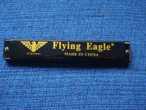 Gaita De Boca 24 Furos 48 Vozes Flying Eagle  - Presente Presente