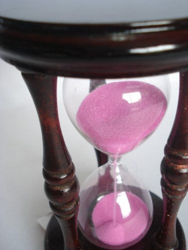 Ampulheta Grande Madeira Areia Rosa Vintage Retro  - Presente Presente