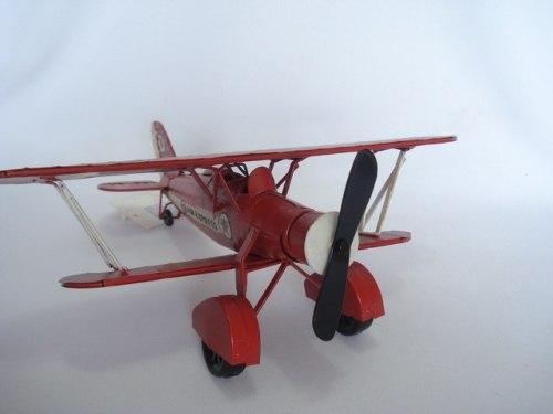 Avião Miniatura Metal Texaco Vermelho  - Presente Presente