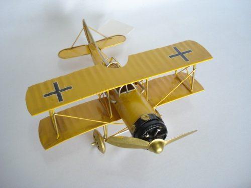 Avião Batalha Amarelo Miniatura Metal  - Presente Presente