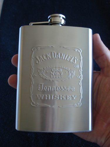 Garrafa De Bolso Jack Daniels Grande Aço Inox 240ml  - PRESENTEPRESENTE