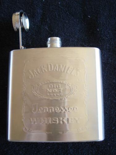 Garrafa De Bolso Jack Daniels Inox 147ml  - PRESENTEPRESENTE