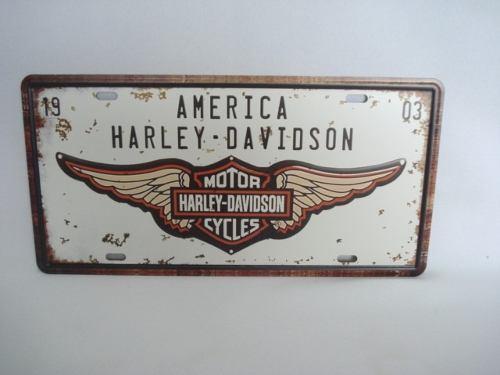 Placa Metal 30x17 Harley Davidson Moto Decoração Coleção  - Presente Presente