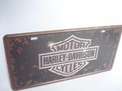 Placa Metal Vintage 30x17 Harley Davidson Decoração Coleção  - Presente Presente