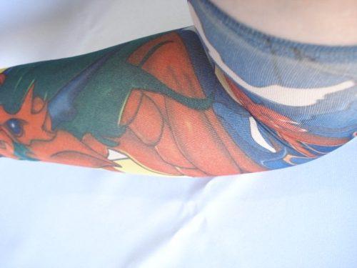 Manga Tatuagem Tatoo Spandex Mod 061 Colorida  - Presente Presente
