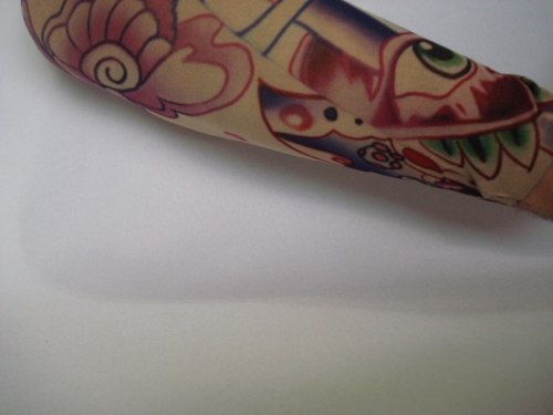 Manga Tatuagem Tatoo Spandex Mod 070 Olho  - Presente Presente