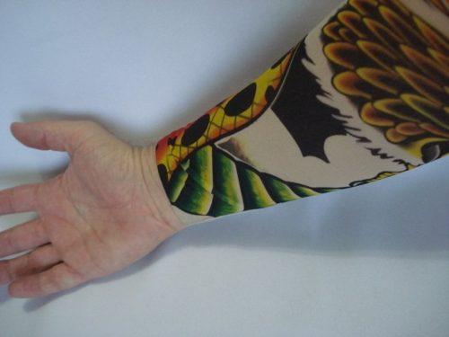 Manga Tatuagem Aguia Tatuada Spandex 074 Elastano  - Presente Presente
