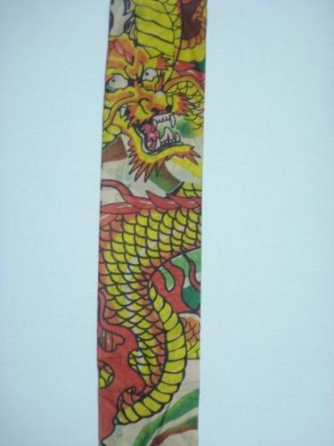 Manga Tatuagem Dragão Dourado Tatoo Spandex Mod 064  - Presente Presente