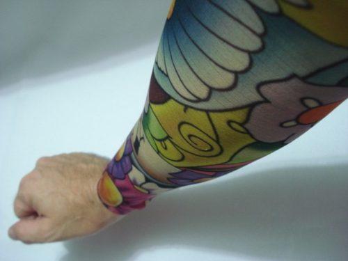 Manga Tatuagem Flores 2 Tatoo Spandex Mod 065  - Presente Presente