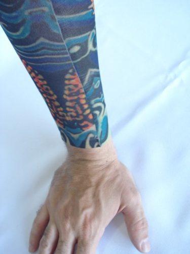 Manga Tatuada Tatuagem Colors Tatoo Spandex Mod 060  - Presente Presente
