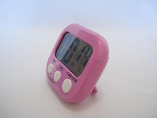 Timer Cronometro Digital Progressivo Regressivo Rosa 103  - Presente Presente