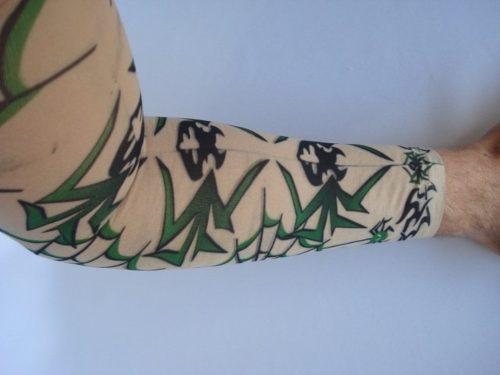 Manga Tatuada Braço Caveira E Aranha Tatuagem Spandex  - Presente Presente
