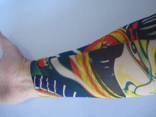 Manga Tatuada Braço Dragão Tatuagem Spandex 0485  - Presente Presente