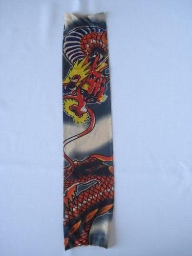 Manga Tatuada Dragão 2 Tatuagem Tatoo Spandex 058  - Presente Presente