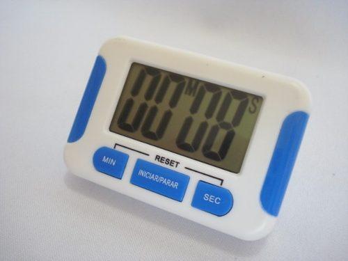 Timer Digital Cronometro Progressivo Regressivo Branco 5  - Presente Presente