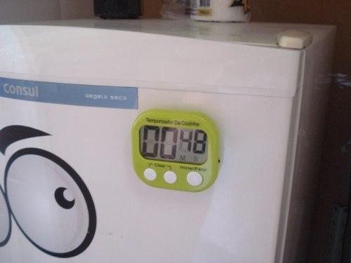 Timer Cronometro Digital Progressivo Regressivo Verde 103  - Presente Presente