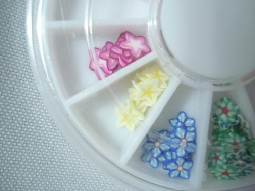 Enfeite Unhas Nail Arte Decoração Estrelas Flores Coloridas  - Presente Presente