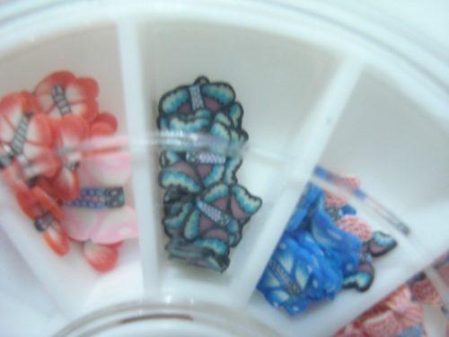 Enfeite Unhas Nail Arte Decoração Borboletas  - Presente Presente
