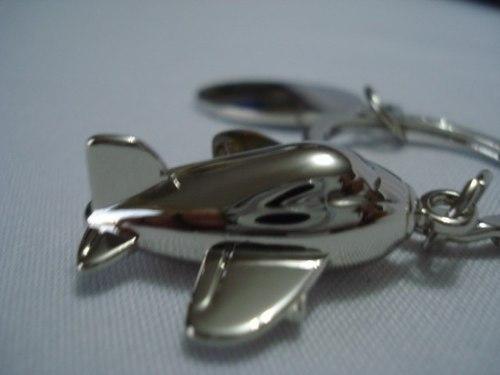 Chaveiro Aviao Jato Aço Inox  - Presente Presente