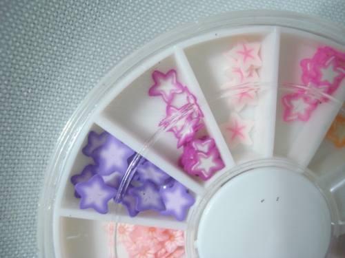 Enfeite De Unhas Nail Arte Decoração Estrelas E Flores  - Presente Presente