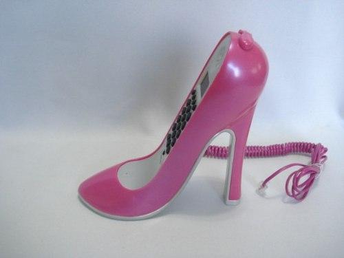 Telefone Sapato Salto Alto Pink Liso  - Presente Presente