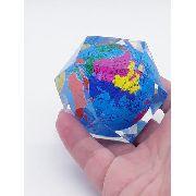 Peso Papel Globo Terrestre Mapa Mundi 5cm Enfeite Multifaces