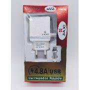 Carregador Rápido 4.8a Jiaxi Fast Charger Usb 3.0 3 Entradas Anúncio com variação