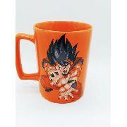 Caneca Dragonballz Zona Criativa Goku Laranja Porcelana