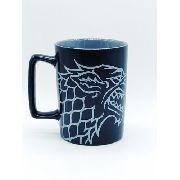Caneca Game Of Thrones Casa Stark Porcelana Winter Is Coming