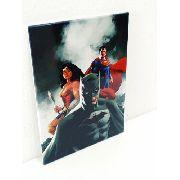 Placa Metal Liga Da Justiça 27x20cm Coleção Batman Superman Anúncio com variação