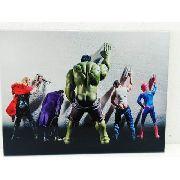 Placa Metal Heróis No Muro 27x20cm Coleção Vinga Dores Anúncio com variação