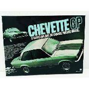 Placa Metal Carro Vintage Chevette Gp 27x20cm Coleção Anúncio com variação