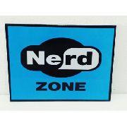 Placa Metal Nerd Zone Video Game 27x20cm Coleção Gamer Anúncio com variação
