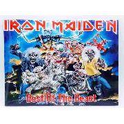 Placa Metal Rock N' Roll Iron Maiden 27x20cm Coleção Anúncio com variação