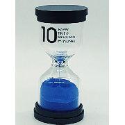 Ampulheta 10 Minutos Areia Azul Decoração Retro