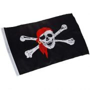 5 Peças Bandeira Pirata Jolly Roger 90x60cm