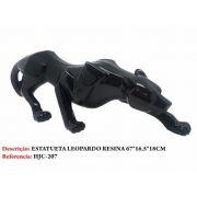 Estatua Leopardo Preto Resina 67cm