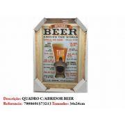 Quadro Decorativo Abridor Tema Cerveja Placa 34x24cm Enfeite