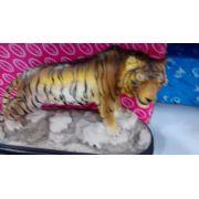 Estatua Resina Tigre 25cm Decoração Coleção Enfeite