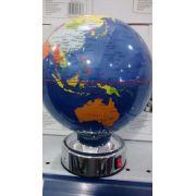 Globo De Mesa Giratório Mapa Mundi Azul Escuro