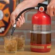 Dispenser De Bebida Formato Extintor De Incêndio