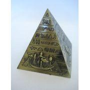 Enfeite Estátua Pirâmide Egito Decoração Escultura Metal