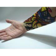 Manga Tatuagem Caveira E Flores Tatoo Spandex Mod 068