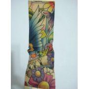 Manga Tatuagem Flores 2 Tatoo Spandex Mod 065